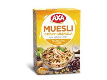 Muesli with honey, fruits and nuts Axa 375g
