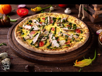 Pizza With chicken and mushrooms (30 cm)