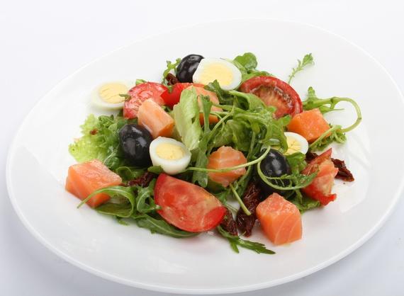 Salad Green salmon