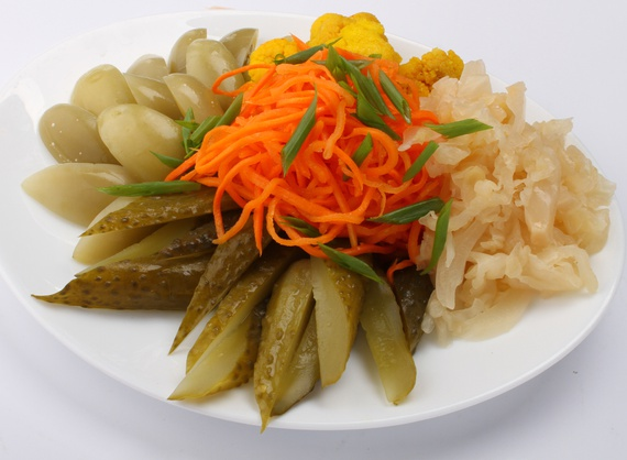 Assorted pickle platter