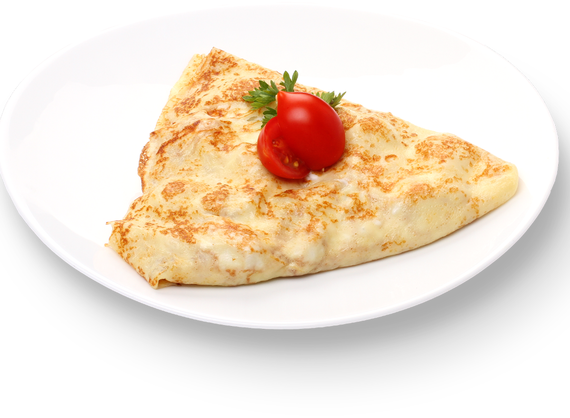 Pancake with chicken meat