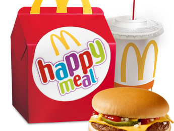 Happy Meal with Cheeseburger