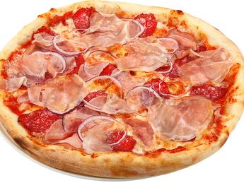 Pizza large Quattro meat
