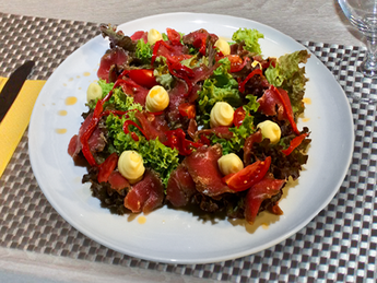 Marinated veal snack