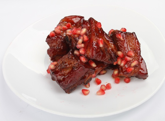 Pork ribs with sweet and sour sauce