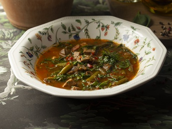 Minestrone with veal