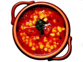 Corn soup (hot)