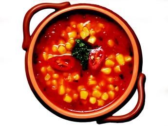 Supă cu porumb (iute)