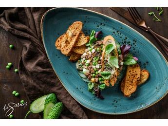 Cod liver tartar with avocado