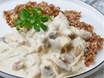 Buckwheat with white sauce