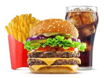 Double burger menu