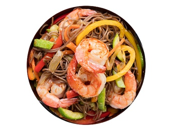 Soba with shrimp