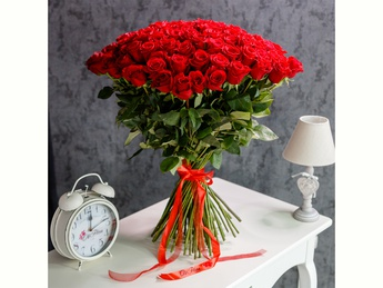 Red roses 80-90 cm