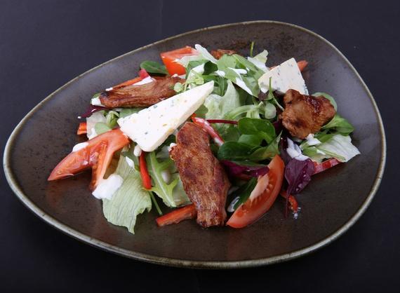 Warm veal salad
