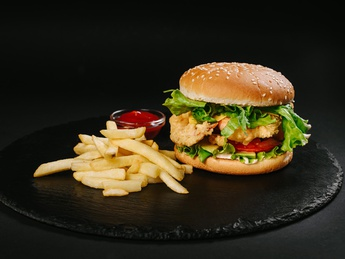 Burger with shrimps