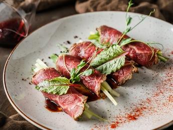 Asian style beef tataki
