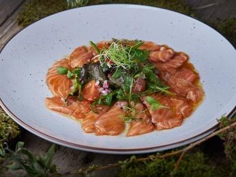 Norwegian salmon ceviche