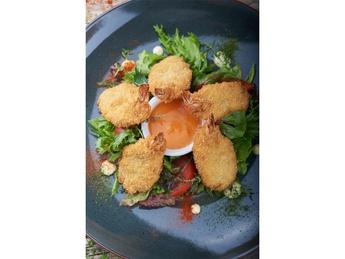 Panko fried tiger shrimps