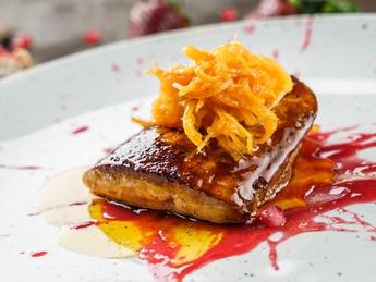 Foie Gras with orange confiture