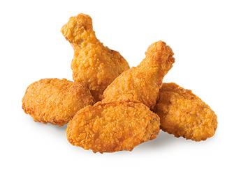 5 куриных острых крылышек
