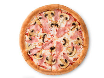 Pizza Prosciutto and  funghi - 35 cm