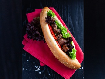Baguette with beef
