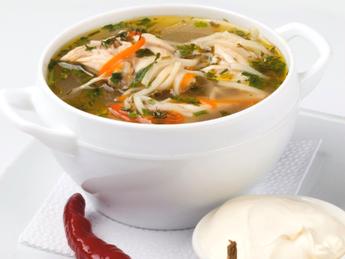 "Moldavian chicken soup ""Zeama"""