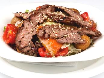 Beef grilled salad