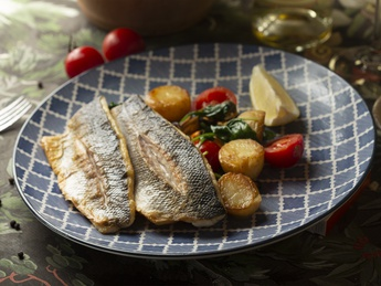 Sea bass fillet in mussel sauce