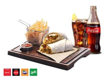 Wrap Arizona Chicken + French fries + Drink