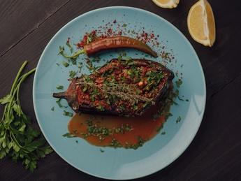 Eggplant with beef