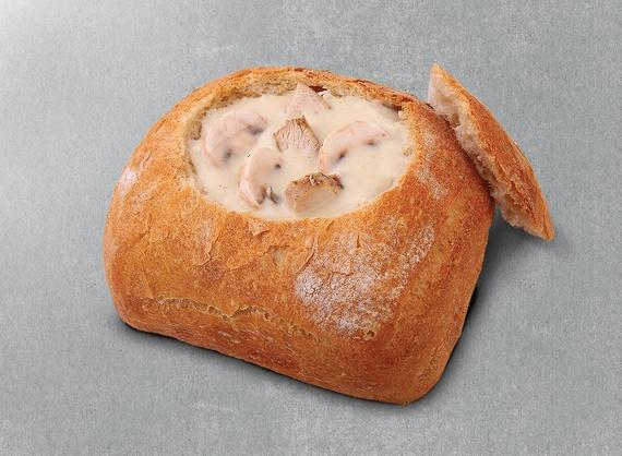 Суп-крем куриный с грибами