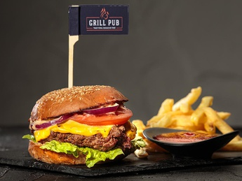 Set GRILL Burger with beef