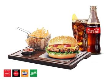 Florida Chedar Burger + French fries + Drink