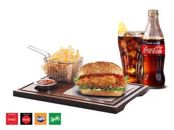 Sweety Chicken Burger + French fries + Drink