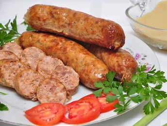 Sausages Bavaria with mustard