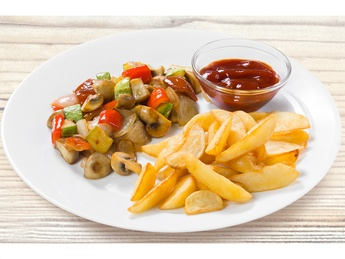 Home-style baked vegetables with potatoes