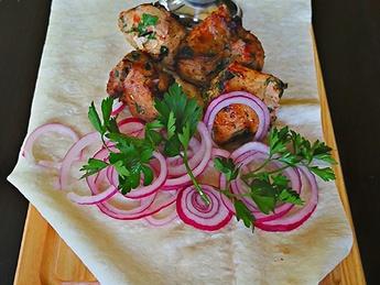 Mtsvadi pork barbecue