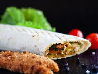 Chicken Schnitzel Kebab
