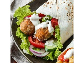 Shawarma with falafel