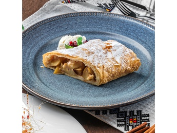 Strudel with apples and walnuts