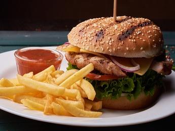 Burgher & fries Chicken