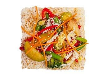 Steam rice with vegetables [31]