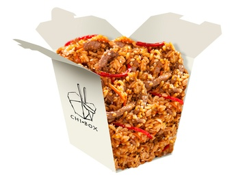 Rice with veal hot