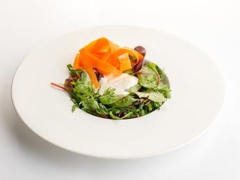 Mix of salad with Dor-Blue sauce