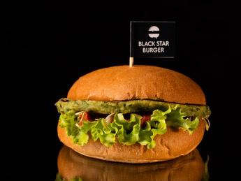 VEGA burger with falafel