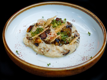 Risotto with mushrooms and mascarpone