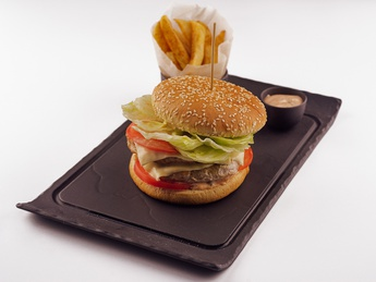 Двойной Чизбургер с картофелем