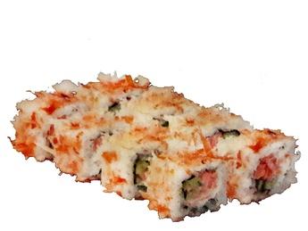Bonito with salmon