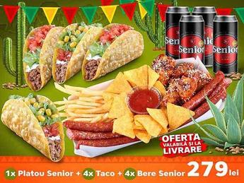 1x Platou Senior + 4x Taco + 4x Bere Senior